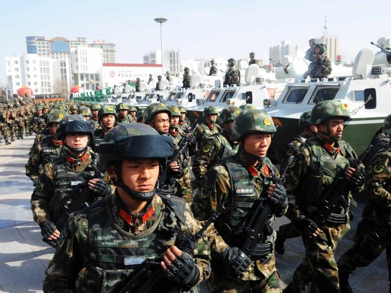 新疆一周傳兩襲擊案 又千名武警從遼寧入疆