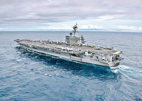 習特會前夕 美航母卡爾文森號再入南海巡航