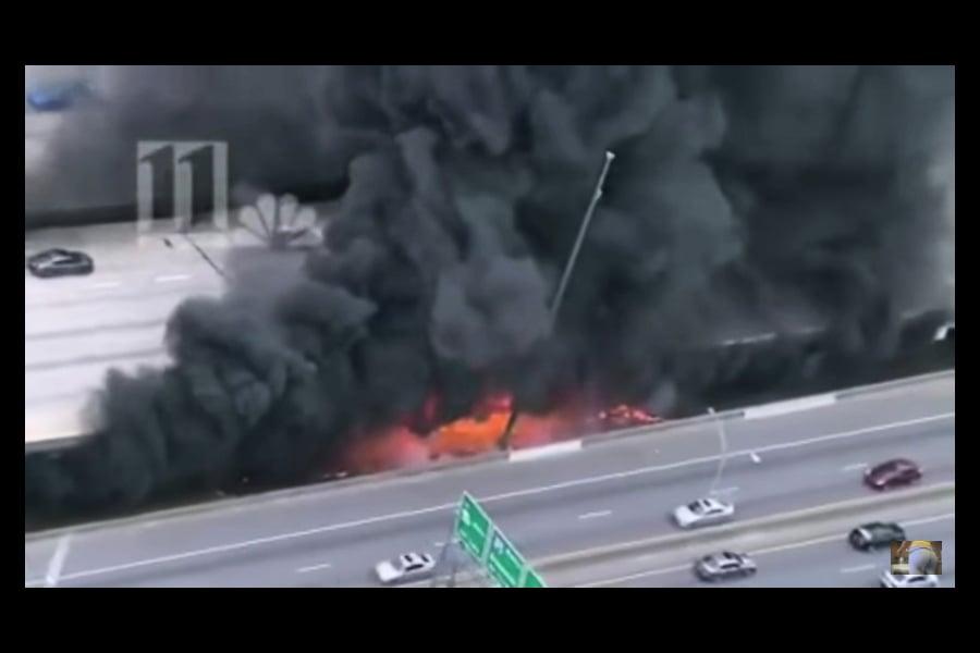 美州際公路橋梁倒塌致交通災難 三疑犯被捕