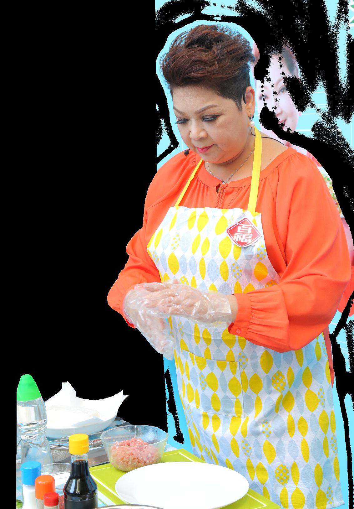 肥媽親身落區教授 「煮滑D加餸班」。(「百福豆腐」提供)