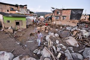 哥倫比亞山崩泥石流254死