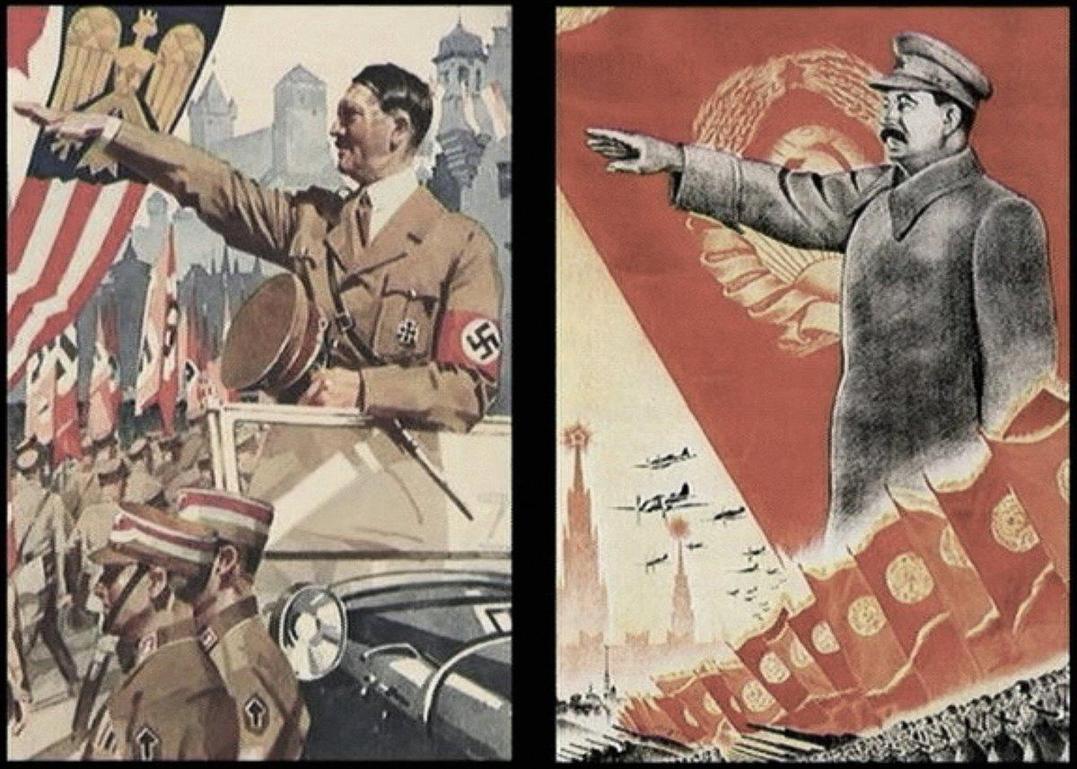 共產主義和納粹的宣傳畫報極為相似。(資料圖片)