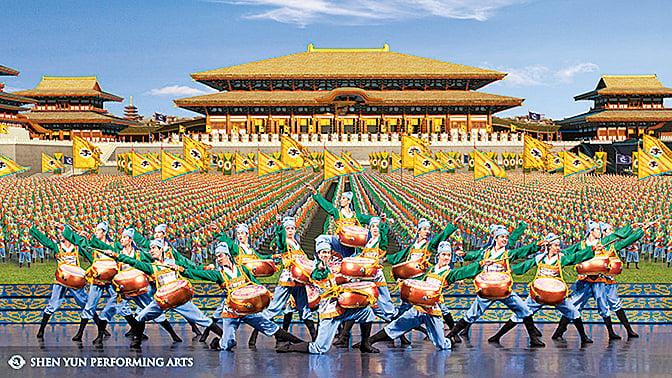 輝煌及氣勢磅礴的唐朝宮殿。