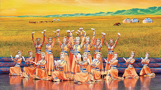 蒙古草原的塞外風光。
