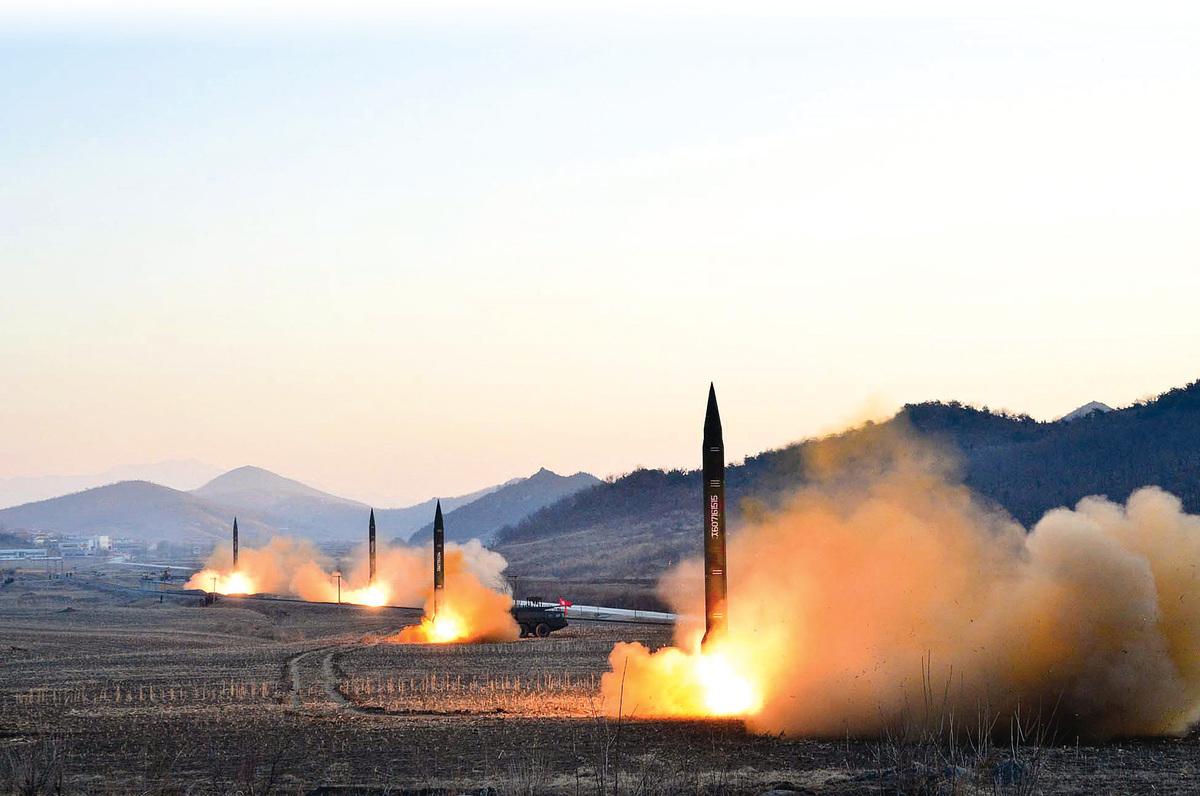 北韓的核武和導彈威脅被視為特、習必須共同面對的難題之一。(AFP)