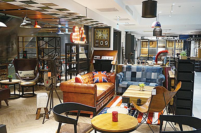 台北設計建材中心內有各種風格的傢俬品牌,包括歐陸風、工業風、復古風等,應有盡有。(網絡圖片)