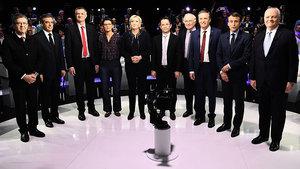 法國大選新紀錄:十一候選人同台辯論