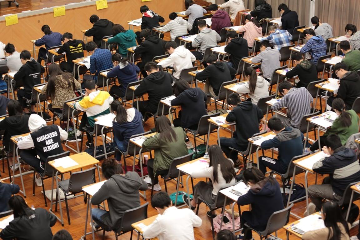 中學文憑試(DSE)中文科昨日開考。(考評局提供)