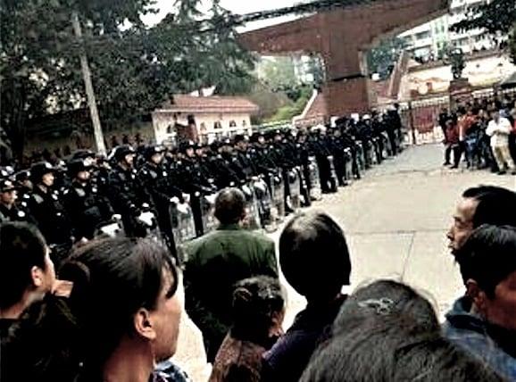 瀘縣學生命案持續發酵,當地官方強化「穩控」措施。(網絡圖片)