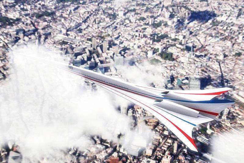 NASA研製安靜型超音速客機 外型如摺紙玩具