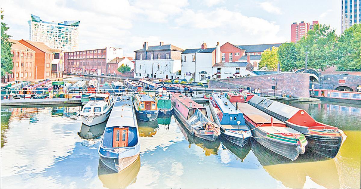 伯明翰古老的運河 Canals of Birmingham。(Depositphotos)