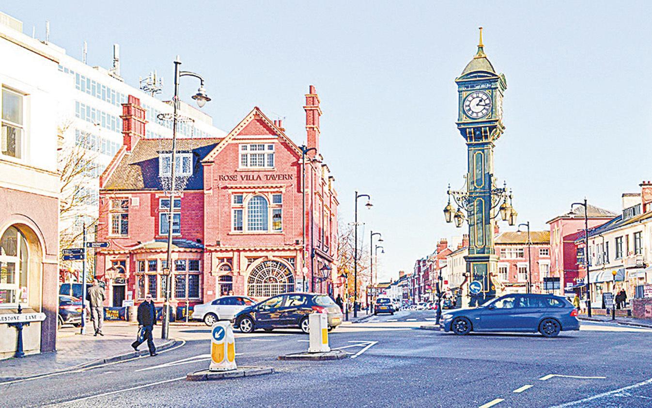 伯明翰獨特的「珠寶市」(Jewellery Quarter)的地標鐘。(Depositphotos)