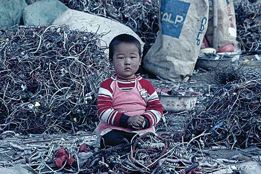 大量廢棄的電子產品面臨著銷毀及回收的問題,這些「中國製造」的產品,在全世界流通後的宿命,竟然還是「回歸中國」。而且這些電子垃圾對中國生態環境造成嚴重污染。