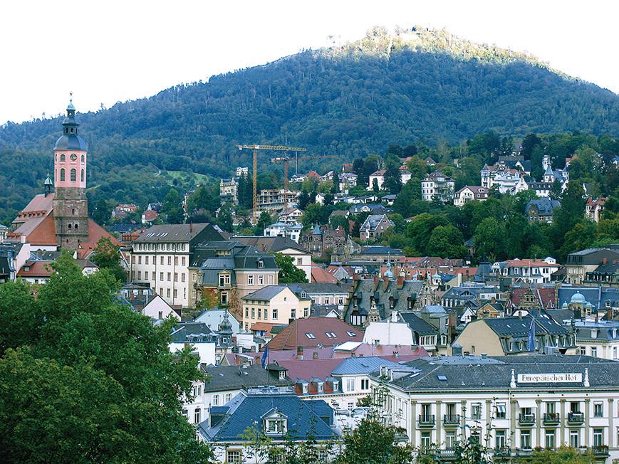 黑森林邊上的小城巴登巴登。(網絡圖片)