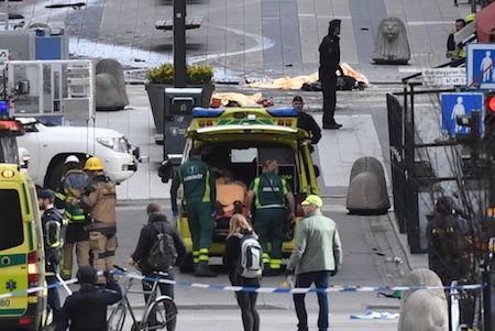 瑞典貨車撞人 一疑犯被捕