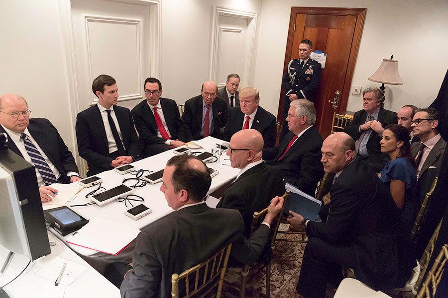 習特會遇空襲敘利亞 特朗普莊園變「戰情室」