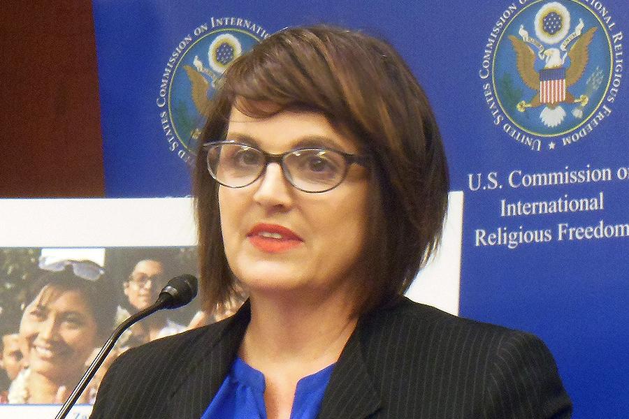 USCIRF委員Kristina Arriaga de Bucholz女士。(李辰/大紀元)