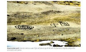 大陸遊客冰島毀景觀 用石頭砌「中國」被轟