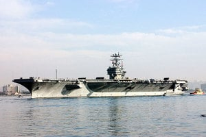 美派戰鬥群聚集朝鮮半島 再向北京發信號?