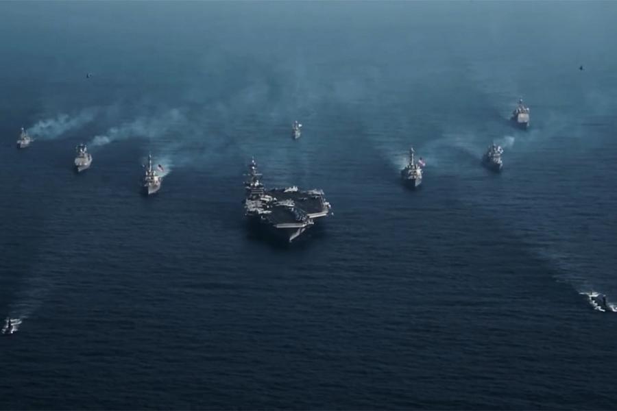 朝鮮半島局勢緊張 美軍三大航母備戰