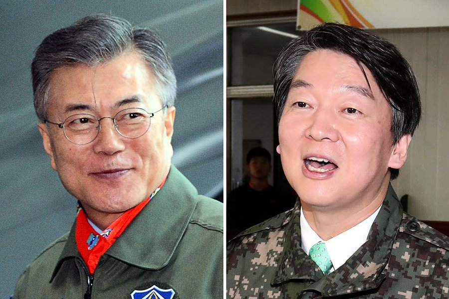 南韓大選民調大逆轉 安哲秀領先文在寅