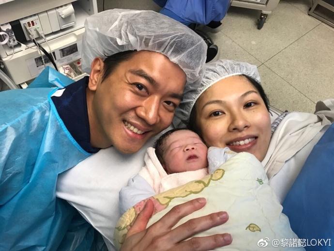 黎諾懿的太太李潔瑩誕下重6.6磅囝囝「小春雞」。(黎諾懿微博圖片)
