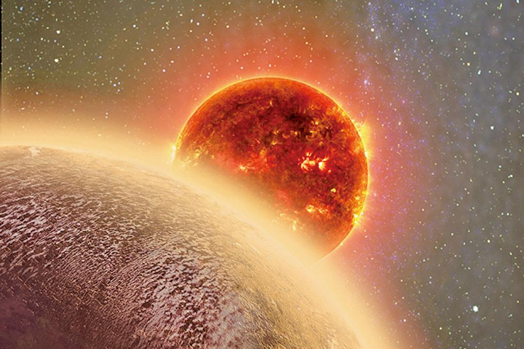 根據科學家觀測,「超級地球」GJ 1132b表面覆蓋一層濃厚的氣體,成份可能是水或甲烷或兩者混合。(網絡圖片)