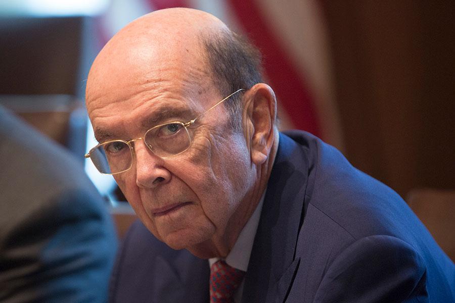 美國商務部長羅斯(Wilbur Ross)。(Chris Kleponis-Pool/Getty Images)