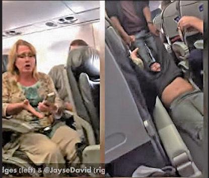 美國聯合航空上周日因機位超賣,強行將一名華裔醫生拖出飛機,引發爭議。(YouTube視頻截圖)