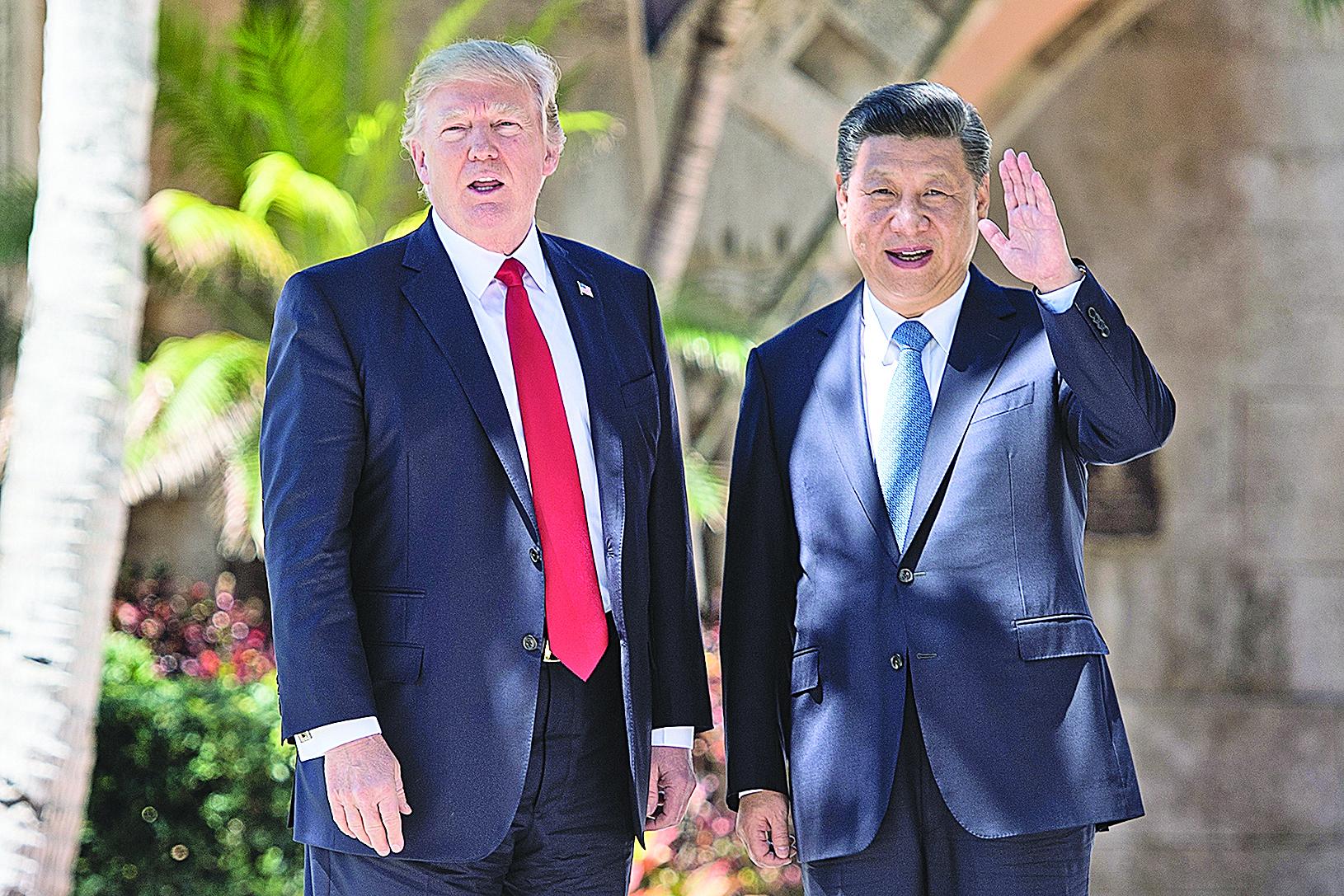 習近平與美國總統特朗普會晤,特朗普稱合作取得「巨大進展」。(Getty Images)