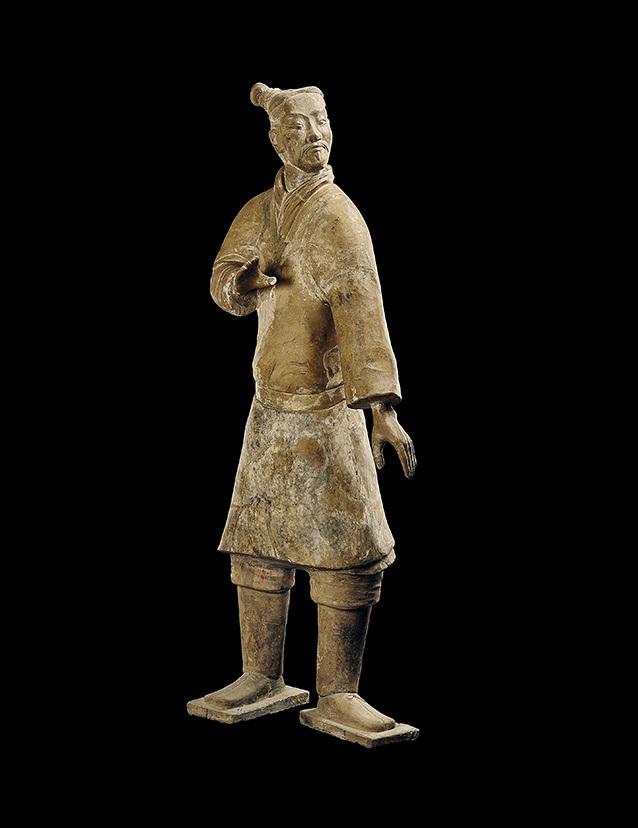 秦始皇陵陶立俑,秦始皇帝陵博物院藏。(The Metropolitan Museum of Art)