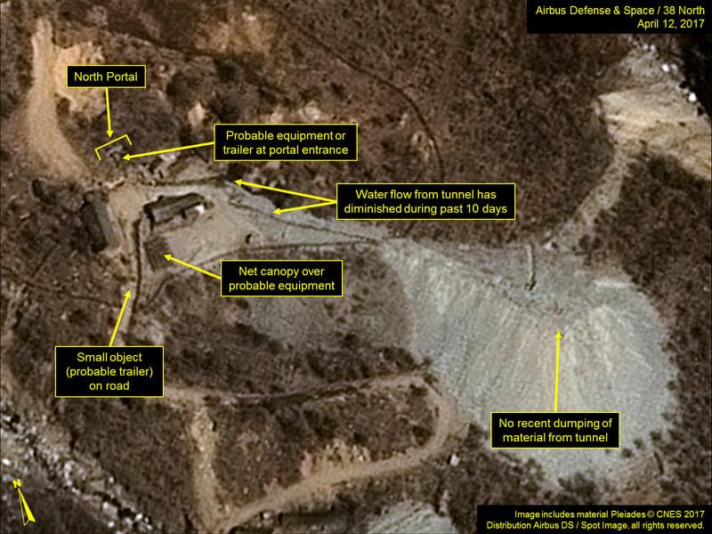 有圖為證 北韓第六次核試驗或準備就緒