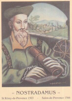 諾查丹瑪斯(Nostradamus)與他的《諸世紀》。(網路圖片)
