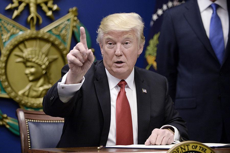 隨著北韓預計將進行新的核試驗,特朗普總統再次威脅要解決北韓核武問題,促使平壤一名高級官員作出挑釁式回應。(Olivier Douliery-Pool/Getty Images)