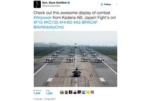 局勢緊張 駐日美軍密集訓練F-15戰機備戰