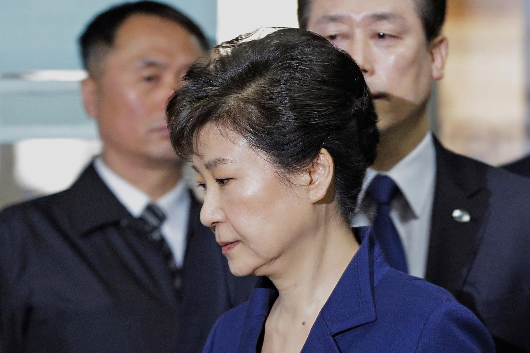 南韓檢方於17日下午對前總統朴槿惠提起公訴。(AFP)