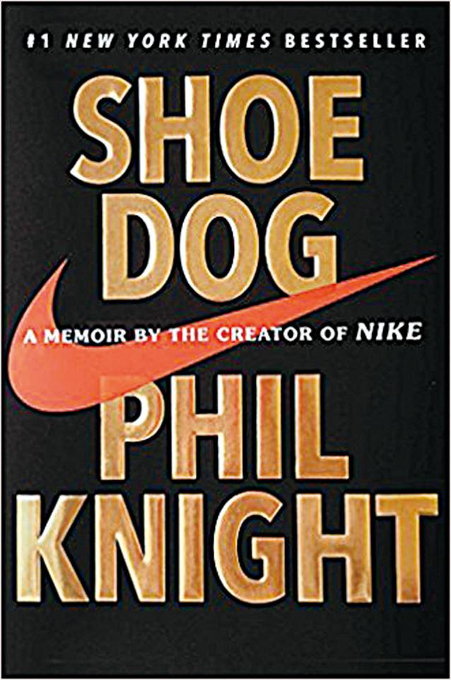 Nike創始人菲爾‧奈特(Phil Knight)的一本親筆自傳——《鞋狗》(Shoe Dog)。(網絡圖片)