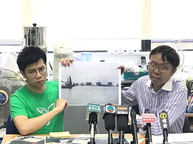 環團懷疑港珠澳大橋工程污染周邊水域