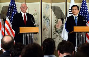 彭斯訪韓警告北韓:勿測試美國決心
