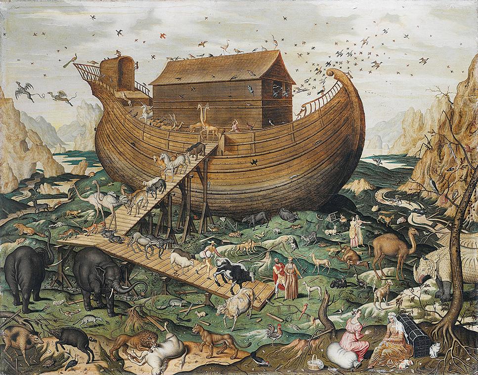 諾亞方舟插畫。(維基百科)
