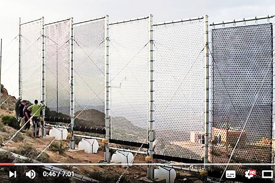 「捕霧器」化霧為水供應生活所需