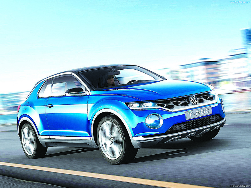 VW在2014年日內瓦車展中推出的T-ROC概念車。(Volkswagen)
