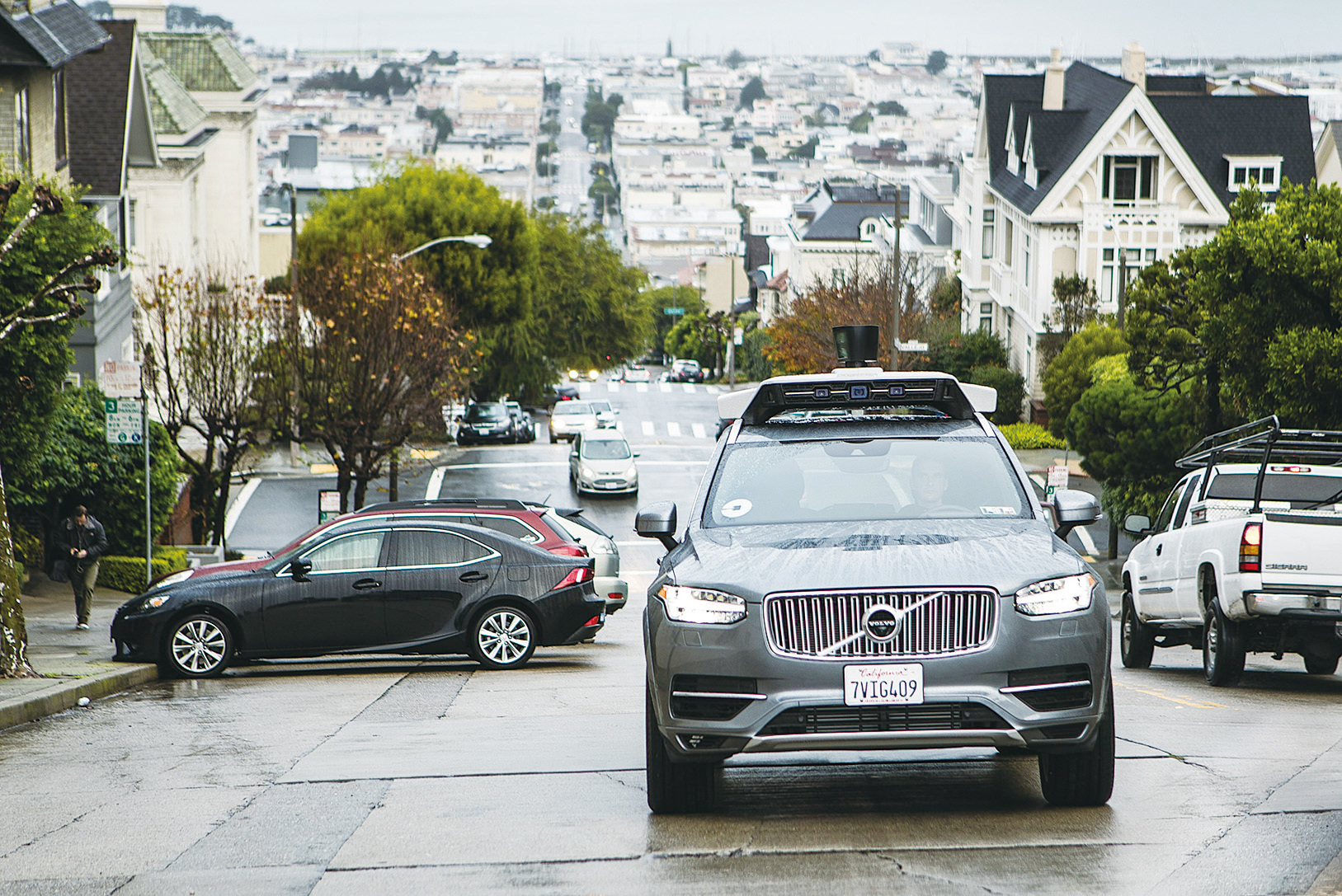 Uber在三藩市使用的自動駕駛車。(Volvo)