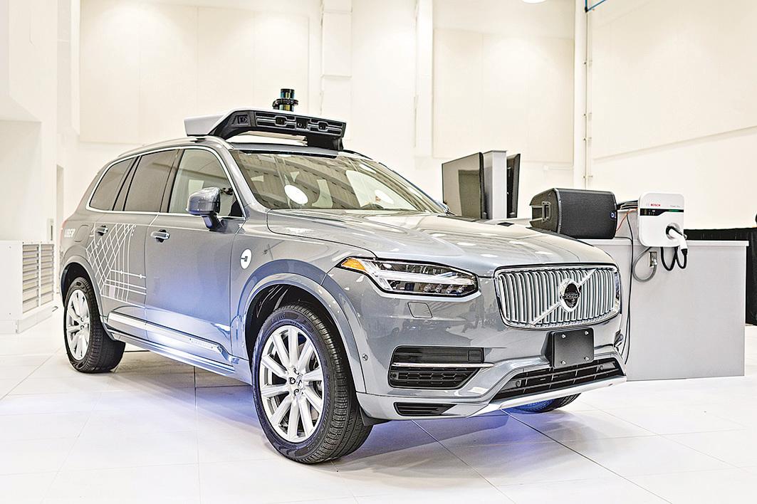 Uber的自動駕駛車是由沃爾沃(Volvo)利用XC90型車開發的。( ANGELO MERENDINO/AFP/Getty Images)