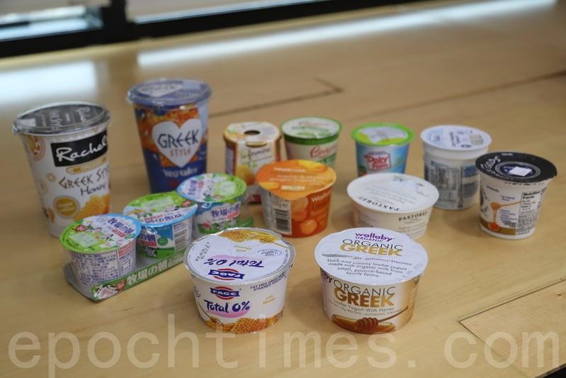 3種預先包裝的乳酪中,原味添加糖乳酪的糖含量平均值最高。(余鋼/大紀元)