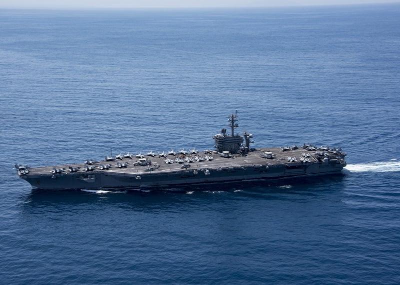 美軍不具名官員說,很好奇持續不斷有關卡爾文森號靠近南韓的報道。圖美國航空母艦卡爾文森號。(摘自美國海軍官網)
