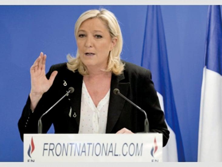 與極右派的瑪琳.雷朋(Marine Le Pen)。(網絡圖片)