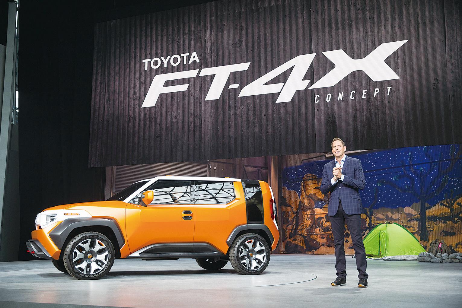 豐田小型SUV概念車FT-4X。 (戴兵/大紀元)