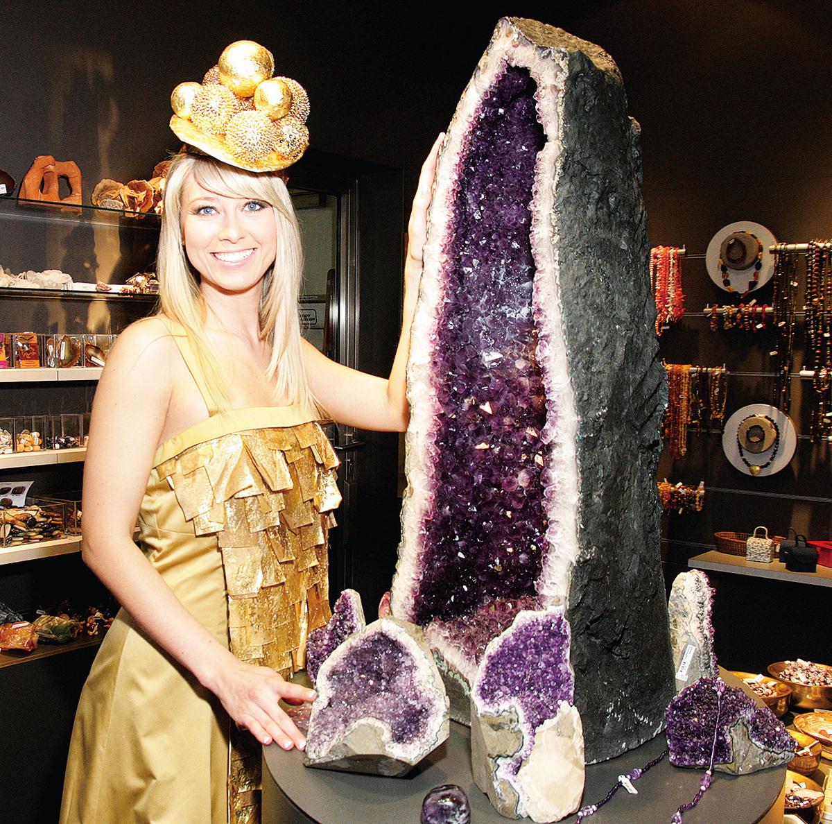 在礦石收藏館可以看到寶石的美妙、奇幻。(德國珠寶世界提供)