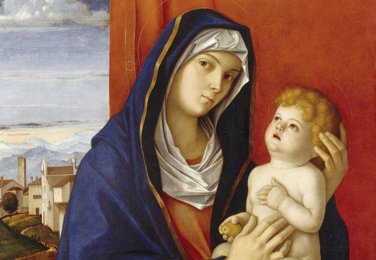 《聖母與聖嬰》,貝里尼作品,美國紐約大都會美術館館藏。(行雲提供)